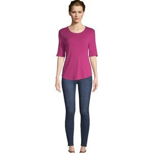 NEW TIME AND TRU WOMEN'S SCOOP NECK PINK TEE 3X